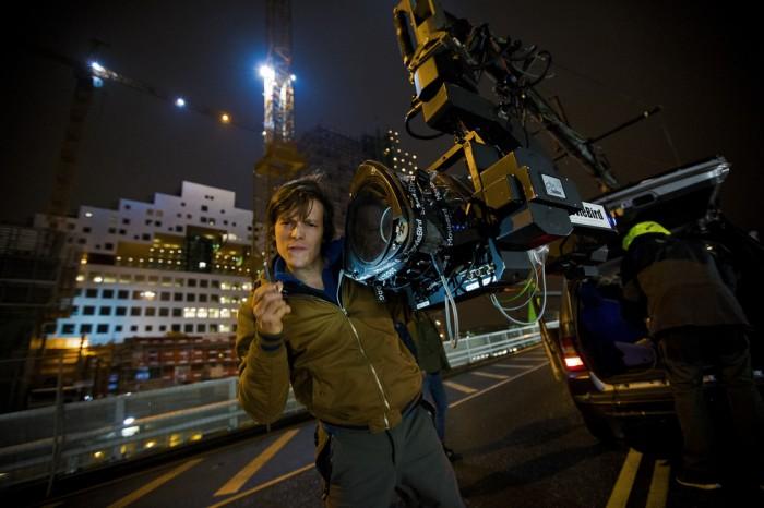 Fotograf Mads Juul med innleid Russian Arm. Foto: Thomas Grotmol